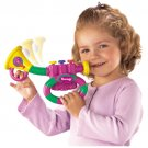 Fisher Price Barney the Dinosaur Bend A Tune Trumpet Colorful Musical Instrument