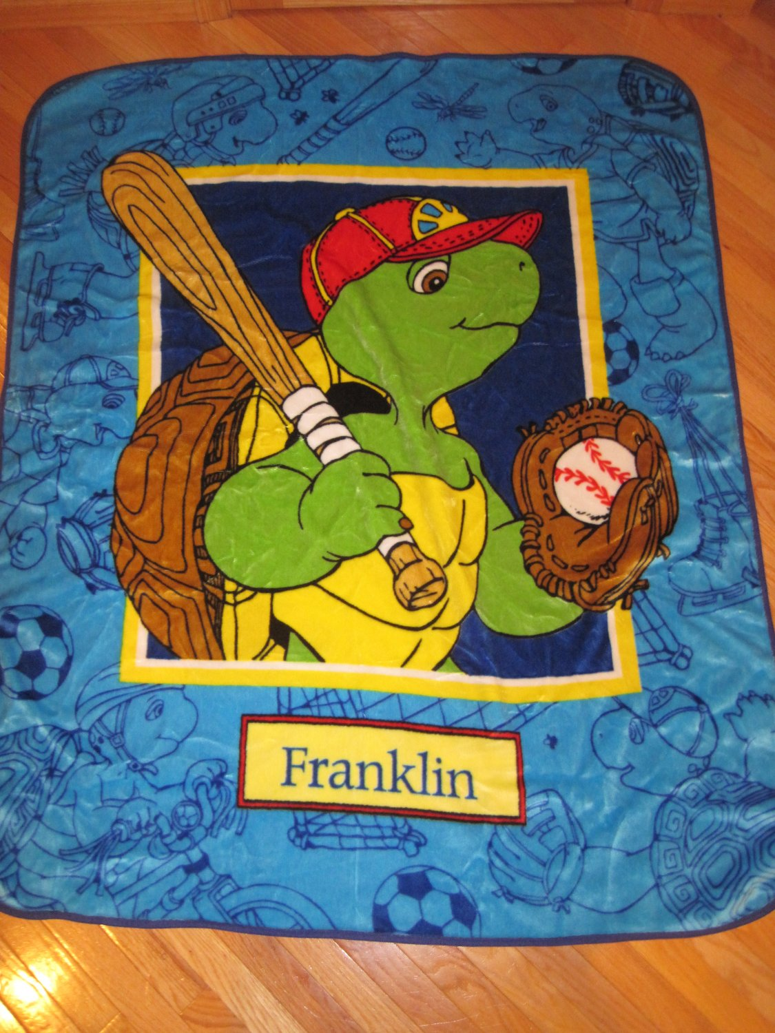 Franklin The Turtle Plush Luxe 50 Quot X 60 Quot Throw Kids