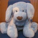 Baby Gund Plush Blue & White Puppy Dog Named Spunky 58377 Brown Nose Eye Spot