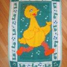 Big Bird Sesame Street Teal Green Blanket Musical Notes La La La