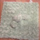 Maison Chic Green Swirl Fur Frog Security Blanket Lovey Satin Back
