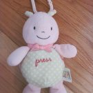 Carters Just One Year Plush Pink and Green Polka Dot Ladybug Hanging Musical Lights Toy