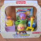 Fisher Price Little People Construction Boy Playset Easter Gift Basket + DVD