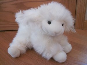 Angel Toy Plush White Fluffy Lamb Sheep Stuffed Animal