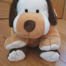 Ty Pluffies Plush White Brown Beige Puppy Dog Large Size Named Whiffer Tylux 2004