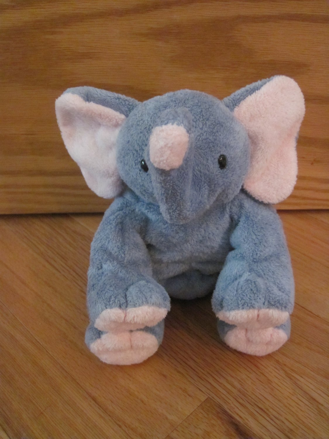 Ty Pluffies Plush Gray & Pink Elephant Named Winks Tylux 2002