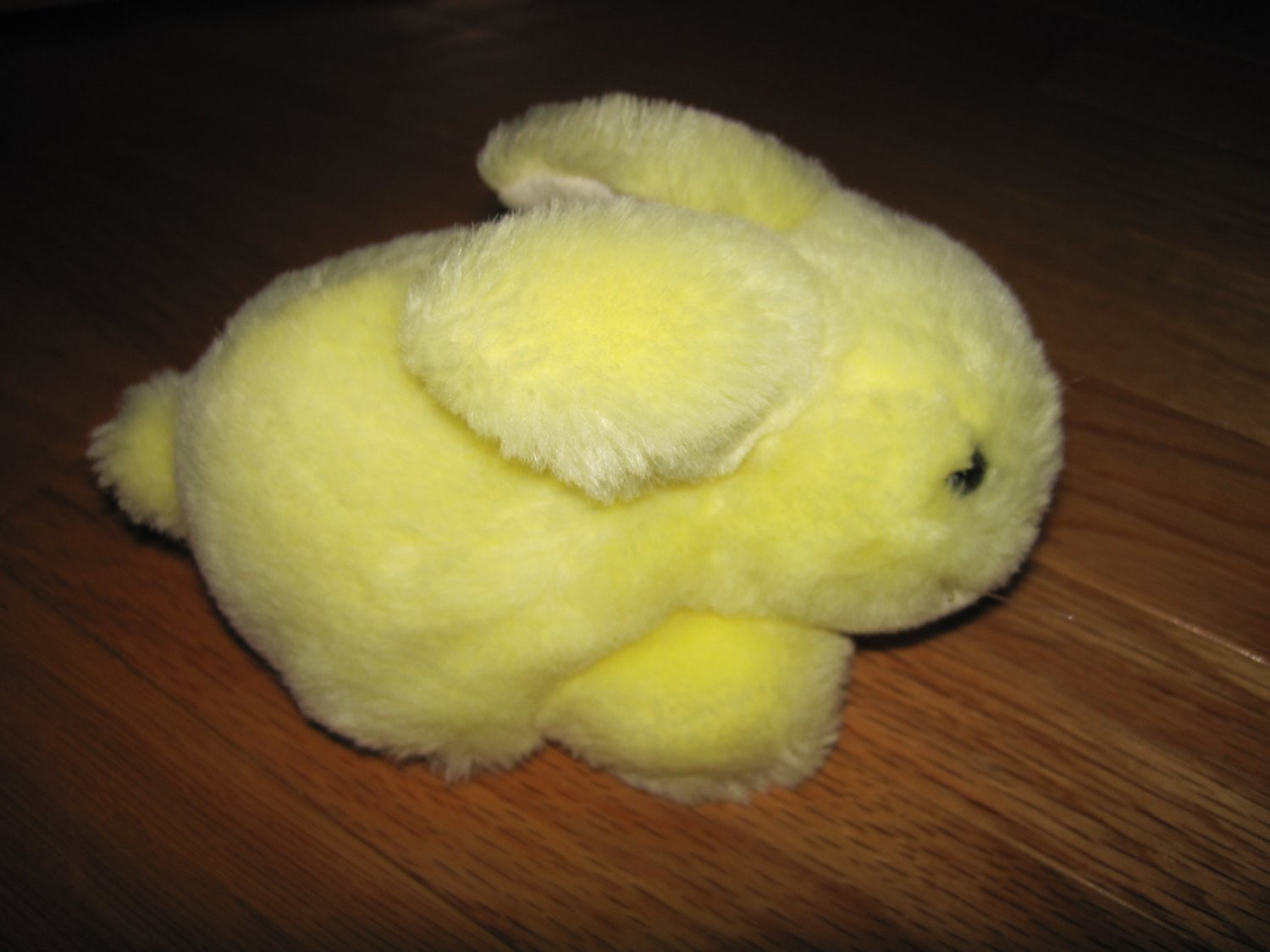 Caltoy Soft Sheen Wee Bunny Rabbit Plush Yellow Toy