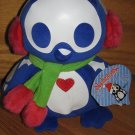 Skelanimals Pen Penguin Plush Blue Earmuffs & Scarf Heart Chest Winter Christmas