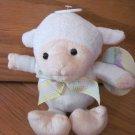 Best Made Toys Plush White Lamb Sheep Plaid Pastel Bow Ribbon
