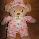 Build A Bear Workshop Plush Teddy Bear Pink Flower Pajamas Record Talk Listen