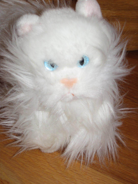 Aurora 6 Inch White Persian Kitty Cat Plush Toy Fluffy