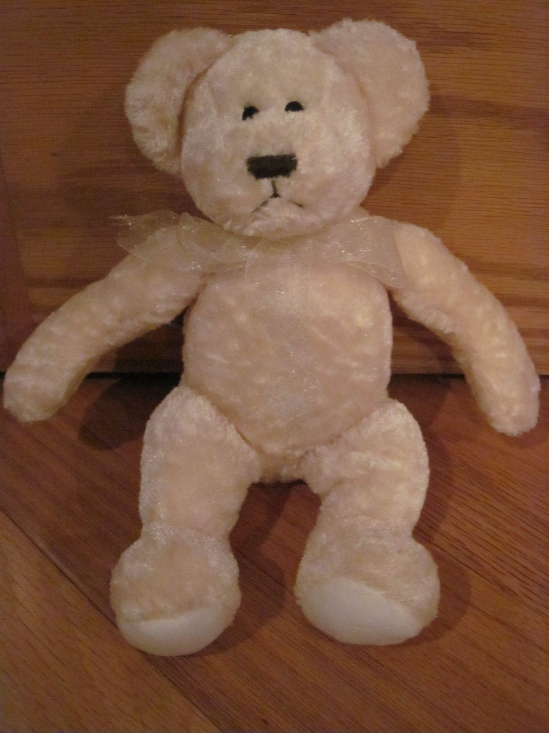 FAO Baby Schwarz Plush Cream Yellow Teddy Bear Lovey Toy