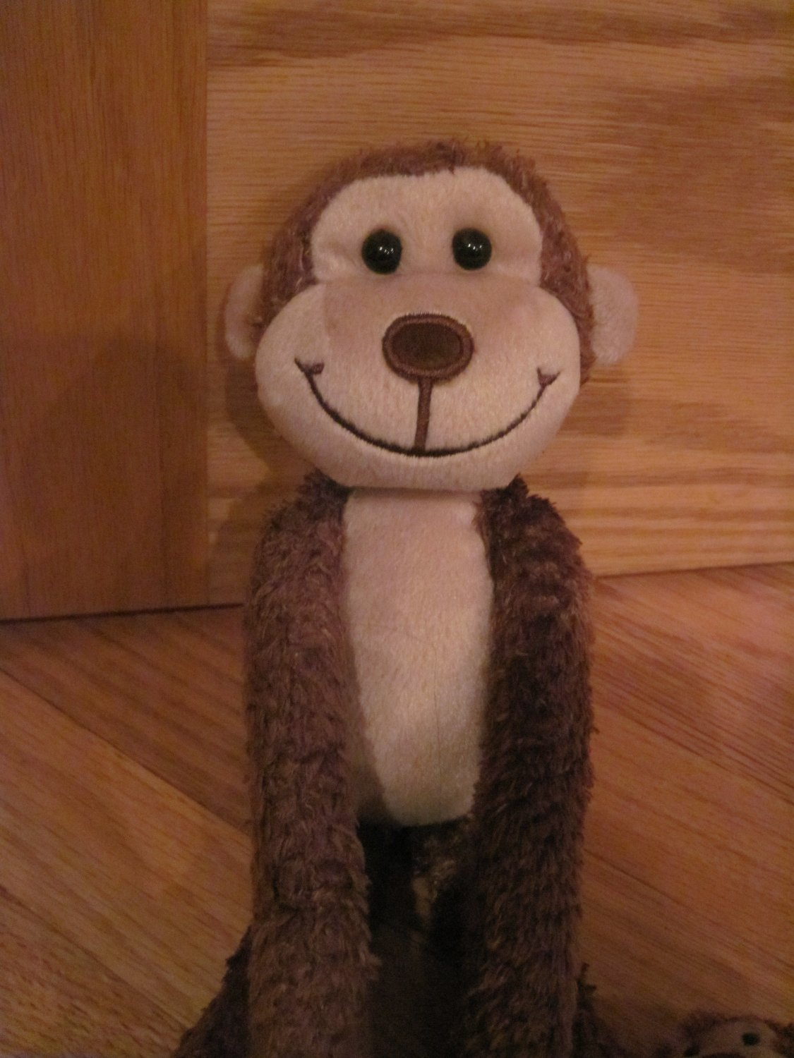 Gma Accessories Brown Plush Monkey Mom Amp Baby On Leg Long