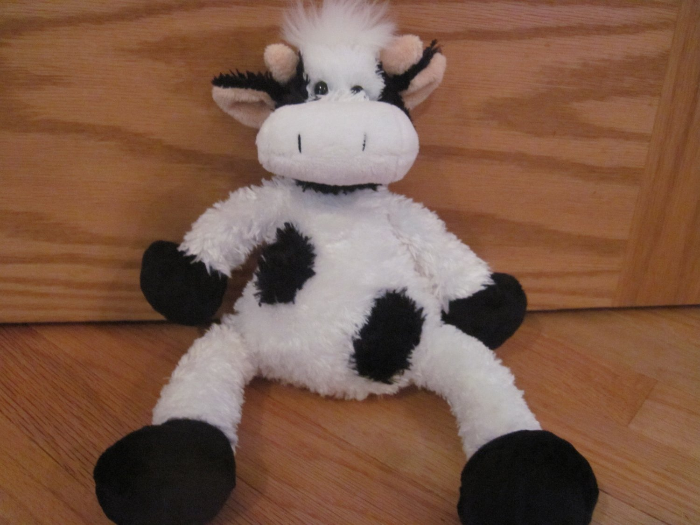 Princess Soft Toys 2007 Black Amp White Plush Cow Peach