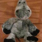 Cuddle Factory Silver Gray Blue Dinosaur with Black Nails Hair Nostrils Plush Toy