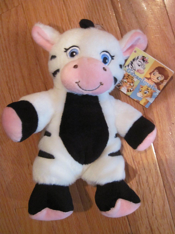Garanimals Black Amp White Plush Zebra Pink Ears Nose