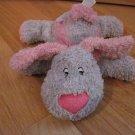 Chosun International Gray & Pink Puppy Dog Plush Toy Heart Nose Ribbon