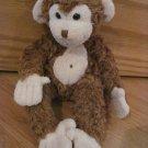 Douglas Toys Plush 9 Inch Brown Monkey Cream Face Belly Button Mo Bongo
