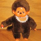 Vintage Target Stores Monchhichi Crying Eyelashes Monkey Ape Thumb sucking Pacifier Bib Toy