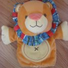 Carters Orange Lion Hand Puppet Baby Toy Button Tummy Crinkle Sound 49434