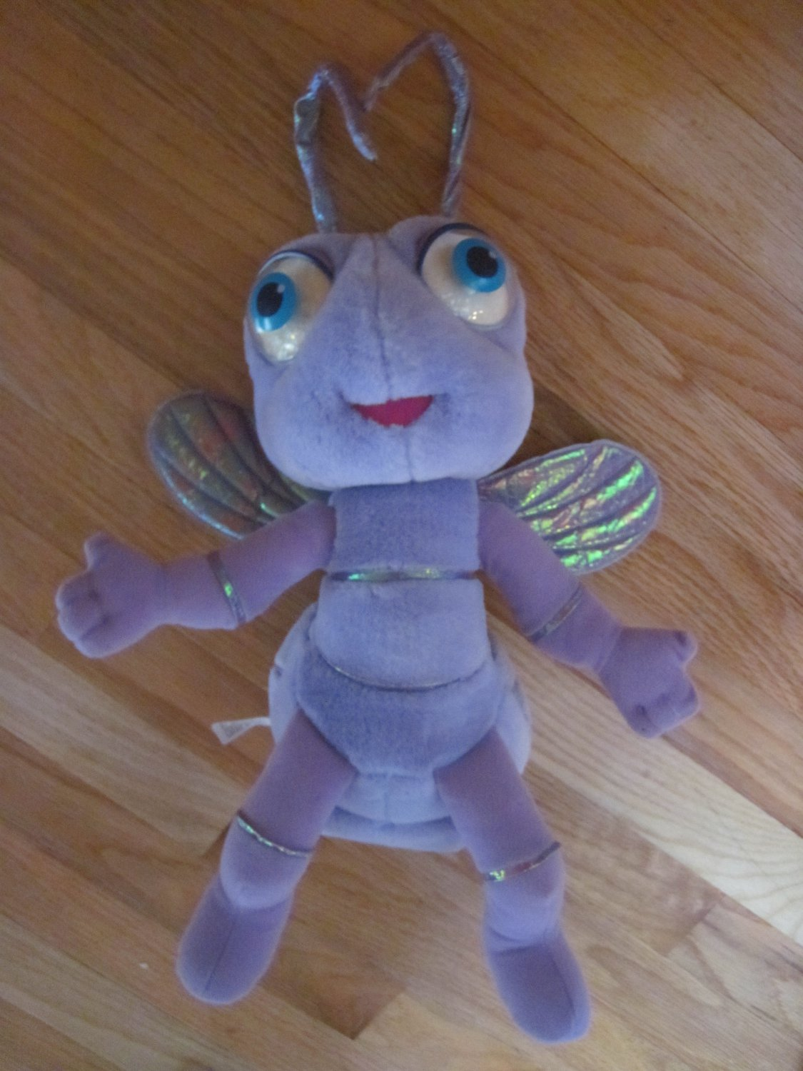 Mattel 1998 Disney Pixar A Bugs Life Talking Princess Dot  Purple Flying Insect