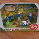 Schleich Smurf 5 Piece Figure Set 1980-1989 Edition Fall Harvest 41257