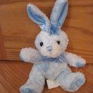 Walmart Stores Blue Plush Easter Bunny Rabbit Black Eyes Organza Ribbon