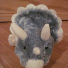 2005 K & M International Plush Blue Green Gray & Cream Triceratops Dinosaur