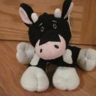 Animal Adventure Black & White Plush Cow Hounds tooth Ribbon Bow Pink Snout Ears