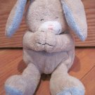 Kids II Bright Inspirations Prayer Praying Beige Tan Bunny Rabbit Plush Blue Sheer Bow Ribbon