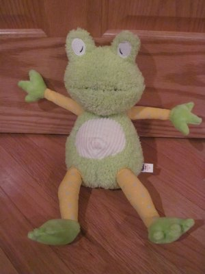 Manhattan Toy Plush Green & Yellow Feel Better Frog Talking Toy
