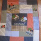 Baby OshKosh Under Construction Zone Truck Crib Toddler Quilt Blanket Comforter Tow Away