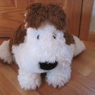 Pottery Barn Kids Cream & Brown Puppy Dog Pillow Pet Buddy Toy Large Size