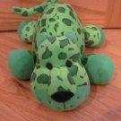Pier 1 One Imports Green Spotted Leopard Jaguar Cheetah Spots Cat Giraffe Plush Stuffed Toy 2079571