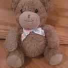Prestige Toy Corp Brown Teddy Bear Animal Print Ribbon Bow Plush Bell Rattle Style 93986