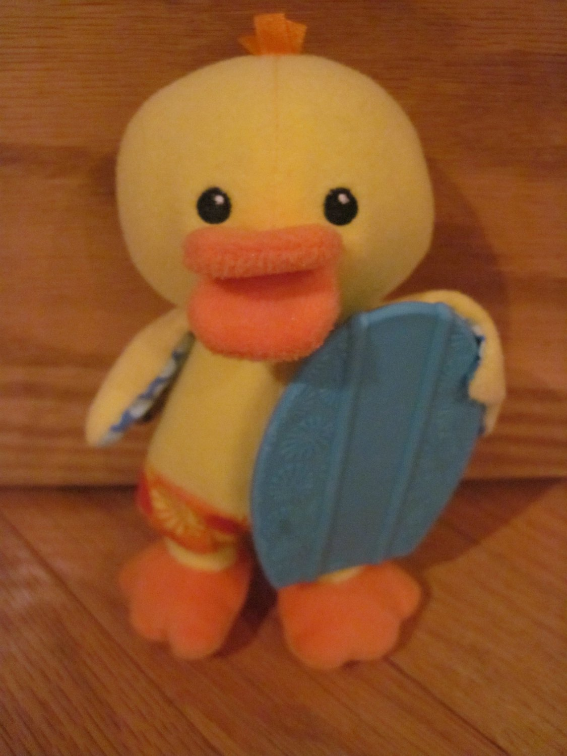 Infantino Plush Yellow Duck Chick Blue Teether Surf Board 158-231