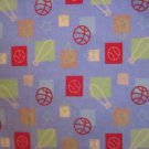 Target Circo Blue Fleece Baby Blanket Sports Baseball Basketball Bat Star Hat