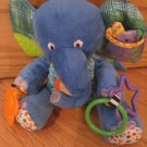 Kids Preferred The World of Eric Carle Developmental Activity Elephant Blue Plush Hanging Crib Toy