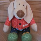 Sigikid Germany Plush Learning Puppy Dog Development Activity Toy Zip Button Snap Tie Velcro Buckle