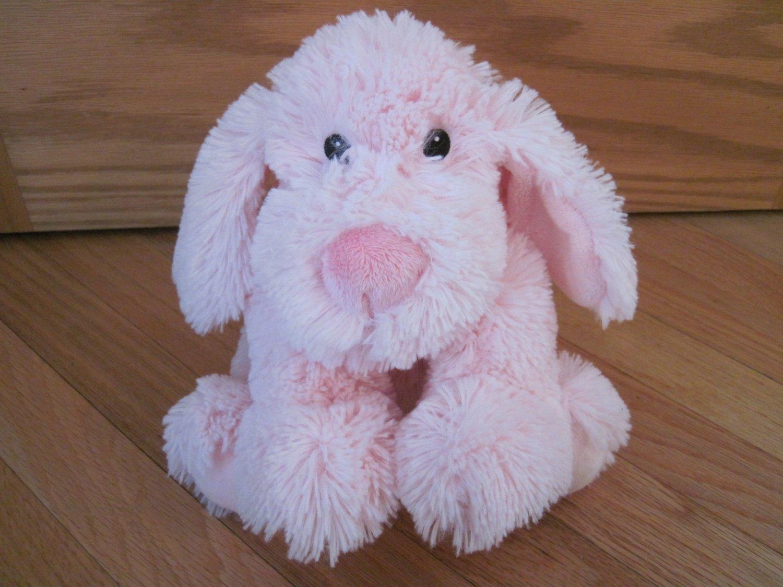 First Impressions Pink Fluffy Puppy Dog Shaggy Floppy Toy