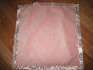 Baby Gund Pink Minky Security Blanket White Satin Edge Pink Satin Back Lovey 1006218