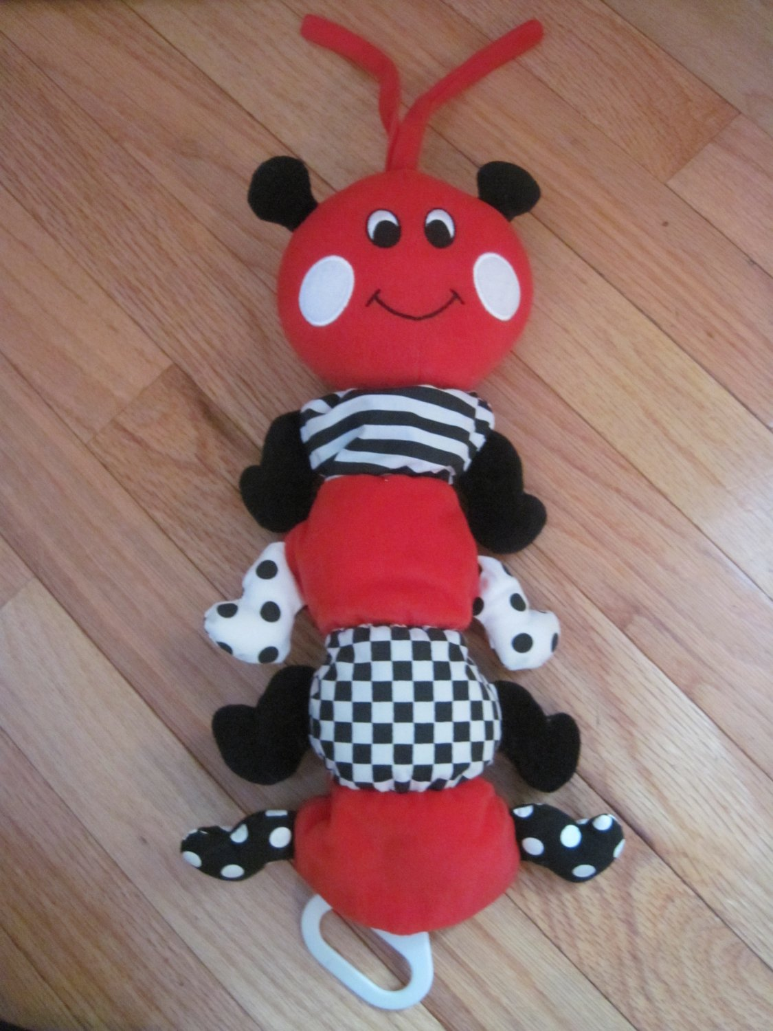 Kids Ii 1998 Red Black White Musical Caterpillar Ladybug