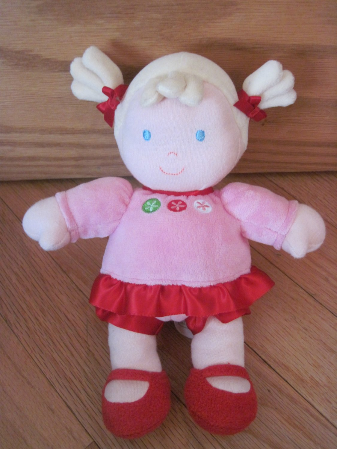 Carters Just One You Plush Baby Doll Blond Ponytails Pink