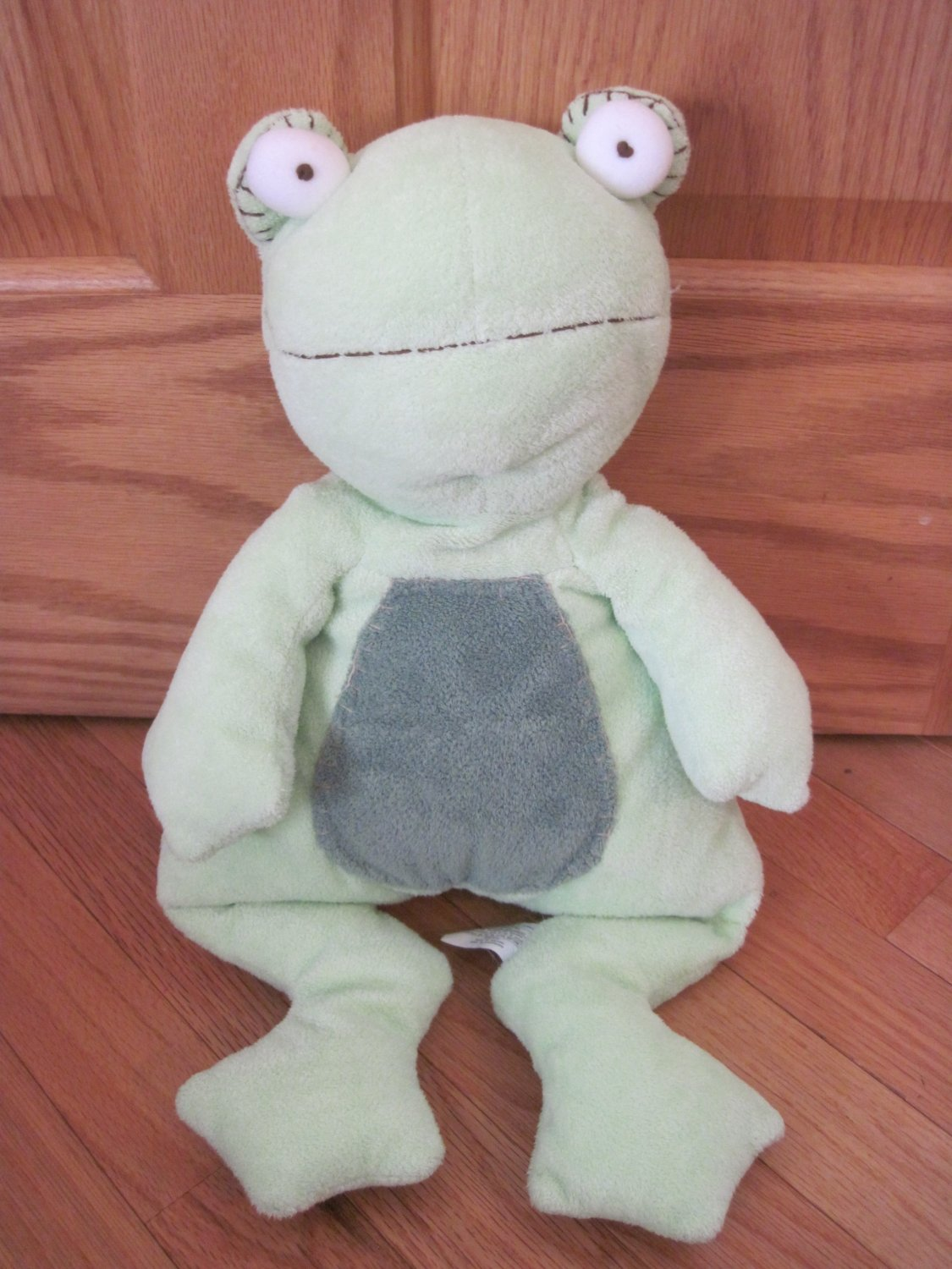 Pottery Barn Kids Plush Green Frog Dark Green Spots Tummy