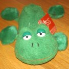 Russ Berrie Plush Green Luv Pets Frog Named Lotus Furry Ball Feet Dangle Legs 22300