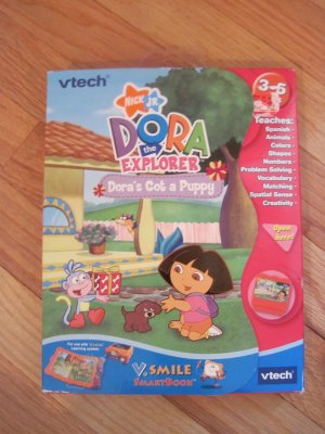 Vtech Vsmile Dora the Explorer SmartBook  Smartridge V.Smile TV Learning Educational System Toy
