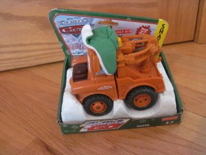 9b26a5d44b6 Fisher Price Shake  N Go Christmas Holiday Mater from Disney Cars Tow Mater Winter  Hat