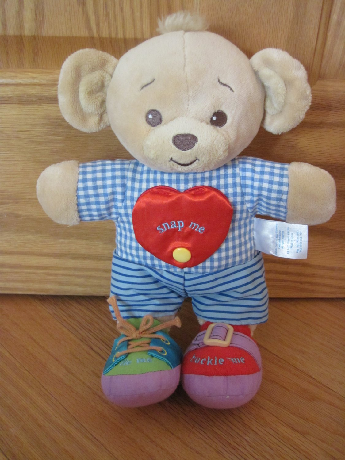 Build A Bear 2006 Learn To Dress Activity Bear Snap Me Tie