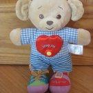 Build A Bear 2006 Learn to Dress Activity Bear Snap Me Tie Buckle Plaid Stripes