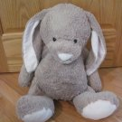 Restoration Hardware Baby & Child Plush Tan Beige Bunny Rabbit Pink Nose Ears Large Size